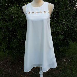 LoveRiche white sleeveless dress
